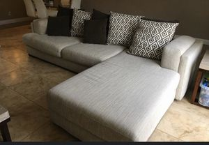Sectional Couch 2 - Piece with Chaise for Sale in Tampa, FL