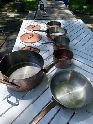 Willam Sonoma 10pc copper pots for Sale in Hewlett, NY