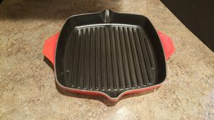 Kirkland Signature 12in Enameled Cast Iron Grill Pan for Sale in Liberty Lake, WA
