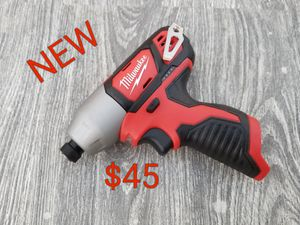 brand new Milwaukee m12 impact drill driver only $45 for Sale in Littlerock, CA