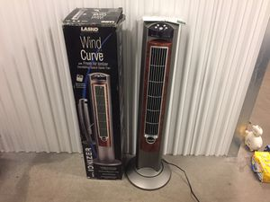 lasko wind curve Oscillating Tower Fan With ionizer ( used for 1 hour) Like new for Sale in Chicago, IL