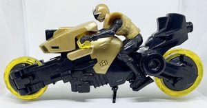 Power Rangers Samurai Shark Gold Cycle Motorcycle w/ Gold Ranger No Sword for Sale in Everett, WA