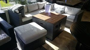 Brand New Patio Furniture ASHLEY Sectional with ottoman and firepit tax included and free delivery for Sale in Hayward, CA