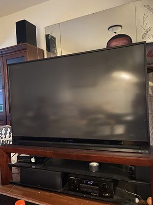 "65"" TV (DLP) + TV Stand for Sale in Renton, WA"