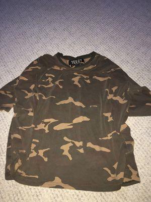 Yeezy season 1 camo jersey shirts sz L for Sale in Duluth, GA
