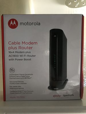 Motorola Modem+Router MG7550 for Sale in Kent, WA