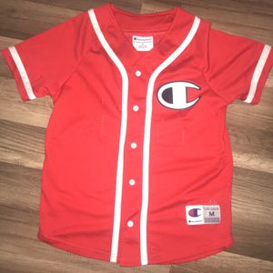 Red Champion Baseball Jersey for Sale in Elkridge, MD