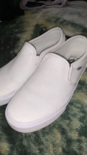 all white vans size 7.5 for Sale in Elk Grove, CA