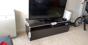 TV stand from Ikea with storage drawers in brown-black for Sale in Bethesda, MD