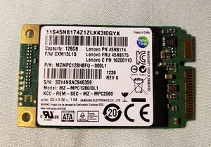 Lenovo 45N8174 128GB SSD Solid State Drive Samsung for Sale in Chula Vista, CA