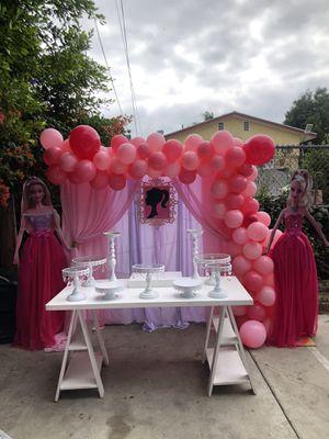 Barbie table setup-Barbie backdrop for Sale in Los Angeles, CA