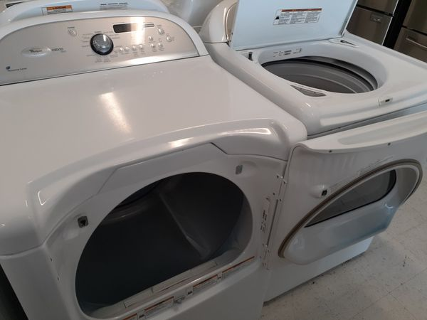 Whirlpool tap load washer and electric dryer mix and match set in good condition with 90 day's warranty