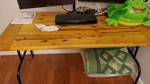 Pine table top with folding legs for Sale in Fort Lauderdale, FL
