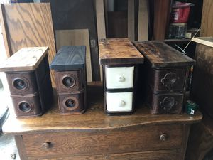 Antique sewing machine accessory drawers for Sale in Tacoma, WA