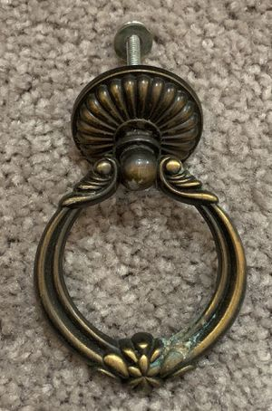VINTAGE SET OF 1 ANTIQUE BRASS DRAWER DRESSER BRASS DROP PULL KNOBS HANDLES WITH SCREWS DIY PROJECT for Sale in Chapel Hill, NC