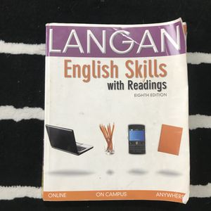 English Skills Textbook by Langan 8th edition for Sale in San Diego, CA