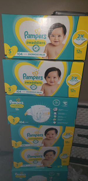 Pampers size 5 for Sale in Fort Worth, TX