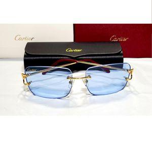 Cartier Gold Wire Big C Frame Blue Lens Glasses Eyeglasses for Sale in South Windsor, CT