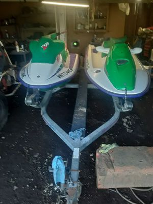 93 seadoo xp and 95 sea doo gtx with double trailer for Sale in Cosmopolis, WA