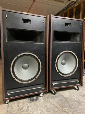 EPIC HORN LOADED KLIPSCH SPEAKERS **PAIR VINTAGE** ORIGINAL BROCHURE AND SALES RECEIPT**IF AD IS UP ITS STILL AVAILABLE**FIRM** for Sale in Las Vegas, NV