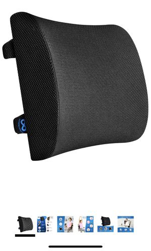 Lumbar Support for Office Chair - 100% Pure Memory Foam Lumbar Pillow for Car (Black for Sale in Chicago, IL