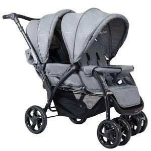 Foldable Double Baby Stroller Lightweight Front & Back Seats Pushchair Gray for Sale in Alhambra, CA