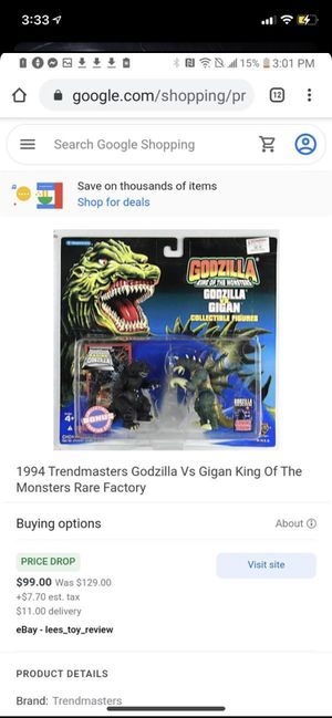 Godzilla trade masters toy rare factory 1994 for Sale in New Port Richey, FL
