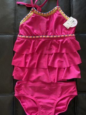 New with tags Justice swimsuit 2 piece hot pink cute Boho vibe! for Sale in Avondale, AZ