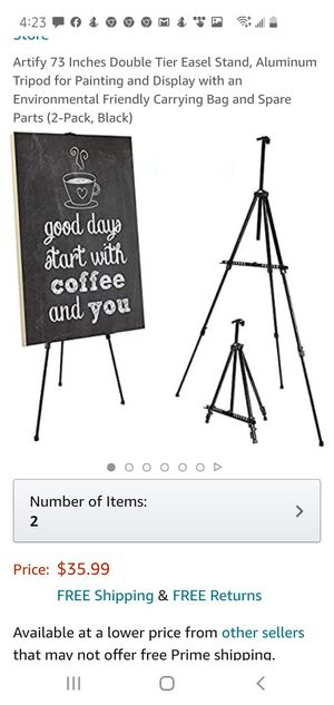 Camera tripod and easel set of 2 for Sale in Lexington, KY