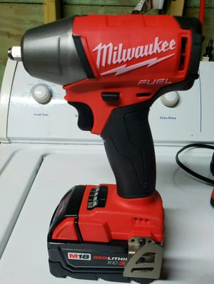 NEW 3/8 Milwaukee m18 impact with batteries and charger for Sale in Bridge City, LA