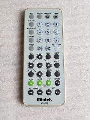 MINTEK RC-1700 PORTABLE DVD REMOTE CONTROL MDP1030, MDP1060, MDP1815, MDP5830. for Sale in Silver Spring, MD
