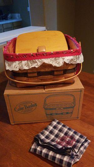 Longaberger Cake Basket set for Sale in Murrieta, CA