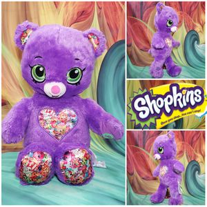 "16"" Build A Bear Purple Shopkins Teddy Plush Limited Edition BABW Stuffed Toy for Sale in Hallettsville, TX"