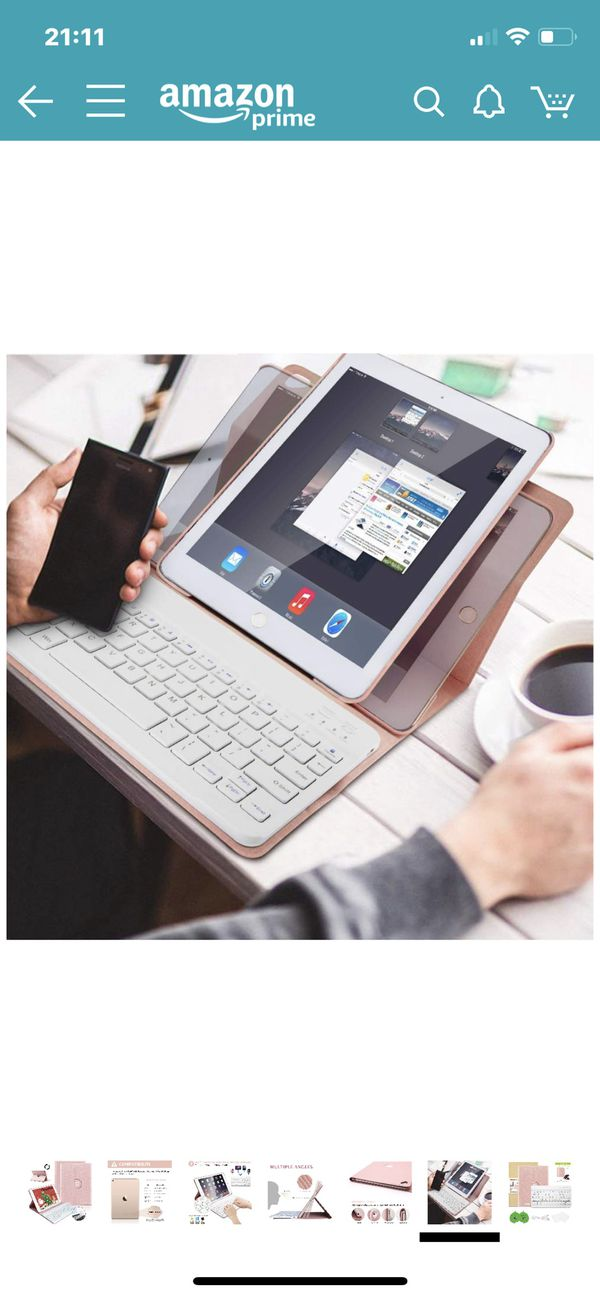 iPad Keyboard Case 9.7 for iPad 2018 (6th Gen), iPad 2017(5th,Gen), iPad Pro 9.7, iPad Air 1/2 Slim Leather Folio Cover with Wireless Bluetooth Keybo