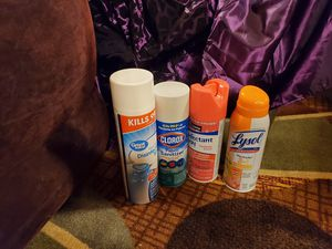 4 different disinfectant spray for Sale in Salisbury, NC