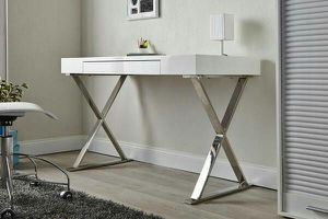 Brand new high quality white lacquer top desk for Sale in San Francisco, CA