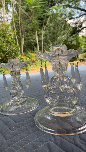 """Vintage glass candle candelabras approx 10"""" for Sale in Vista, CA"""