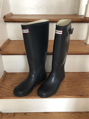 HUNTER Boots US 9 NAVY Original Tall MATTE Rain Boots for Sale in East Lansdowne, PA