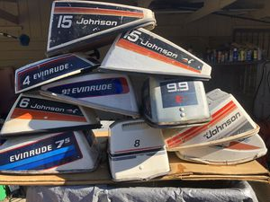 Outboard Motor Covers Johnson/Evin 1950's-90's 2-90 hp for Sale in Sausalito, CA