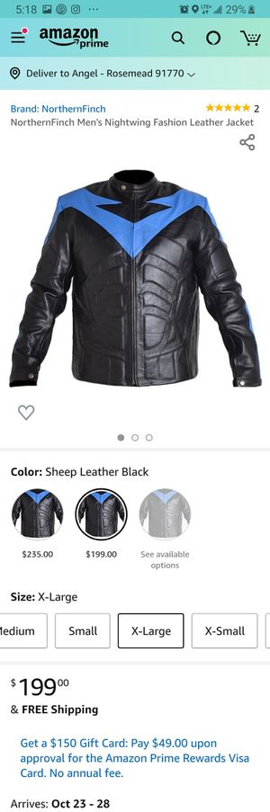 Night Wing Motorcycle Leather Jacket for Sale in Rosemead, CA