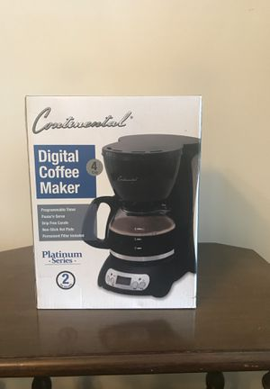 Continental Digital Coffee Maker - 4 Cups for Sale in Washington, DC