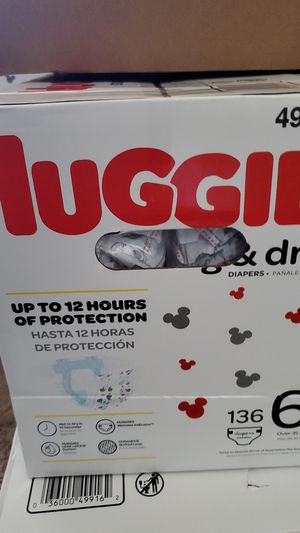 Huggies Snug & Dry size 6 136 count diapers for Sale in San Diego, CA