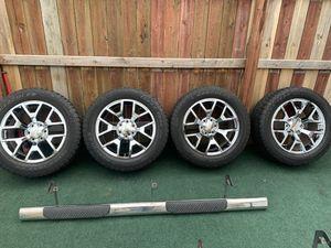 "20"" (6 lug) rims with tires for Chevy Silverado for Sale in Trenton, NJ"