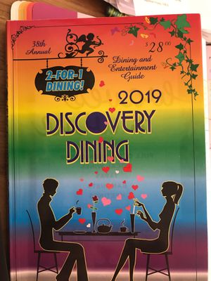 Dining and entertainment guide 2019 two for one coupon book for Sale in Arroyo Grande, CA