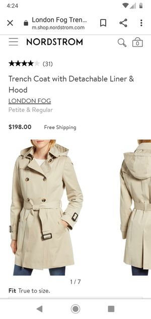 ***NEW w/Tags*** London Fog Trench Coat with Detachable Liner & Hood for Sale in Seattle, WA