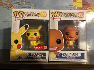 Pokémon- Pikachu and Charmander Funko POP! for Sale in Riverside, CA