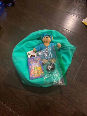 American Girl Beanbag Chair, Bear and Games for Sale in Naperville, IL