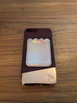 Rose Gold / Burgundy Iphone 8 plus Case for Sale in Los Angeles, CA