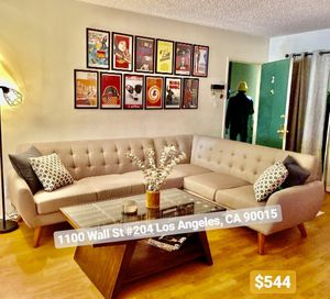 Grey mid century sofa sectional couch for Sale in Downey, CA
