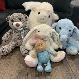 Stuffed Animal Lot Plushie Super Cute And Soft Teddy Bear, Elephants, Sheep, Bunnies Kids Toys for Sale in Mission Viejo, CA